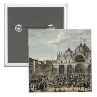 La entrada del francés en Venecia y el hurto Pin Cuadrada 5 Cm