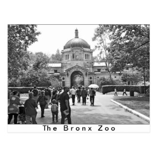 La entrada del parque zoológico de Bronx Tarjetas Postales