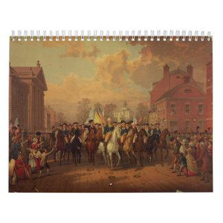 La entrada New York City de Washington del día de  Calendario De Pared