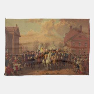 La entrada New York City de Washington del día de  Toalla
