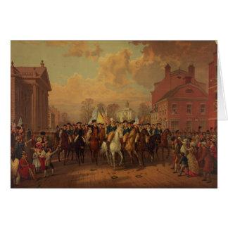 La entrada New York City de Washington del día de  Tarjeta