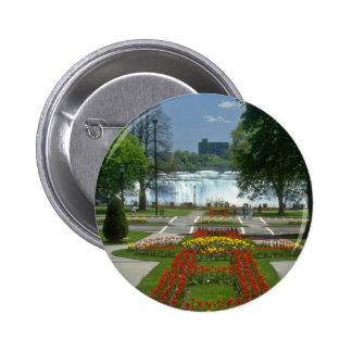 La entrada roja a las caídas, Niagara Falls florec Pins