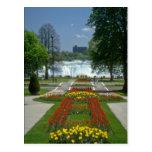 La entrada roja a las caídas, Niagara Falls florec Tarjeta Postal