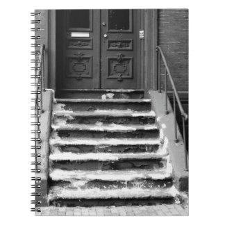 La entrada sucia camina cuaderno de la fotografía