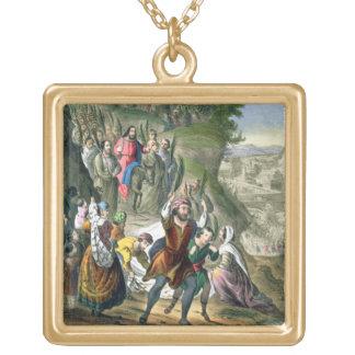 La entrada triunfal de Cristo en Jerusalén, de un  Colgante Cuadrado