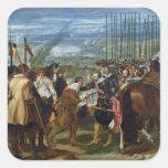 La entrega de Breda, 1625, c.1635 Calcomanía Cuadradas