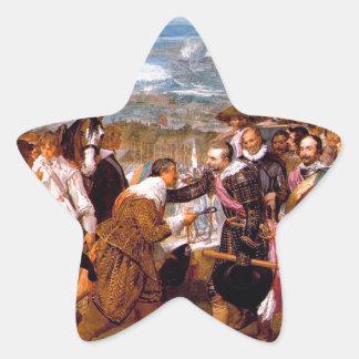 La entrega de Breda de Diego Velázquez Pegatina En Forma De Estrella