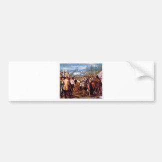 La entrega de Breda de Diego Velázquez Pegatina Para Auto