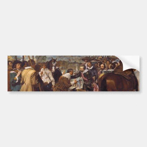La entrega de Breda o de las lanzas por Velázquez Pegatina Para Auto