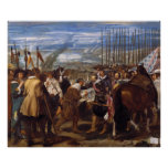 La entrega de Breda o de las lanzas por Velázquez Póster
