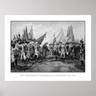 La entrega de Cornwallis en Yorktown Impresiones