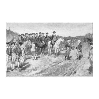 La entrega de Cornwallis en Yorktown Impresión En Lona Estirada