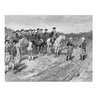La entrega de Cornwallis en Yorktown Tarjeta Postal