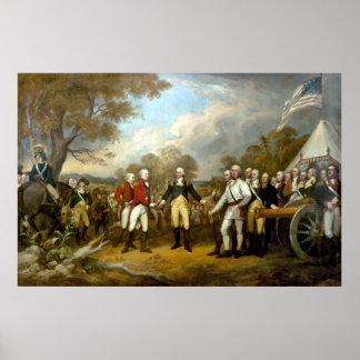 La entrega de general Burgoyne Poster