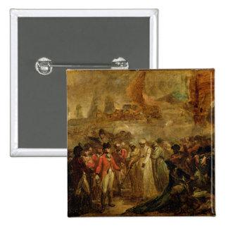 La entrega de los dos hijos de Tipu Sahib (1749- Pin Cuadrado