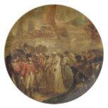 La entrega de los dos hijos de Tipu Sahib (1749- Platos De Comidas