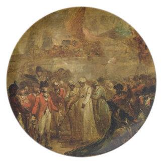 La entrega de los dos hijos de Tipu Sahib (1749- Plato De Cena