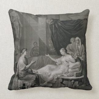 La entrevista de Augustus y de Cleopatra, grabada Cojin
