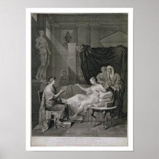 La entrevista de Augustus y de Cleopatra, grabada Póster