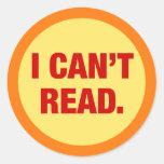 La epidemia del analfabetismo pegatina redonda