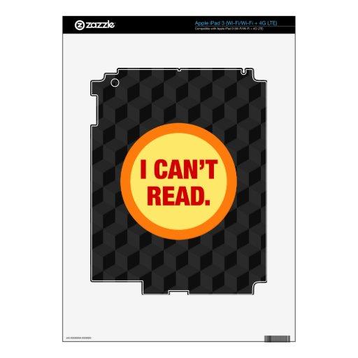 La epidemia del analfabetismo pegatina skin para iPad 3
