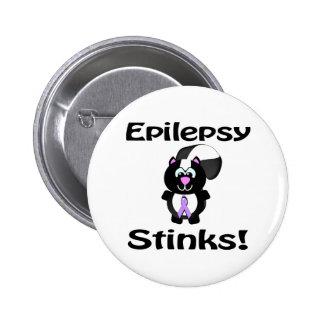 La epilepsia apesta diseño de la conciencia de la  pin redondo de 2 pulgadas