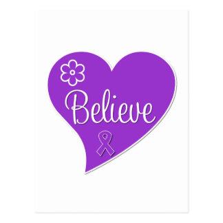 La epilepsia cree Purple Heart Postales
