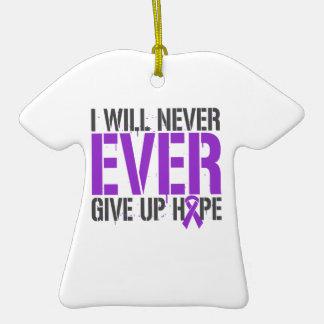 La epilepsia I dará nunca nunca para arriba Ornamento Para Arbol De Navidad