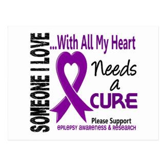 La epilepsia necesita una curación 3 tarjetas postales