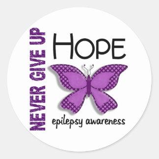 La epilepsia nunca da para arriba la mariposa 4,1 pegatina redonda
