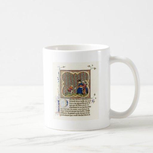 La epístola de San Pablo medieval de la iluminació Tazas