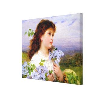 La época de las lilas de Sophie Anderson Impresión De Lienzo