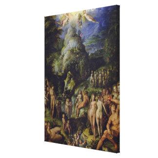 La época dorada, c.1570 (aceite en el panel) impresiones en lienzo estiradas