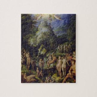La época dorada, c.1570 (aceite en el panel) rompecabeza con fotos