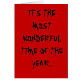 La época más maravillosa del año tarjeta de felicitación