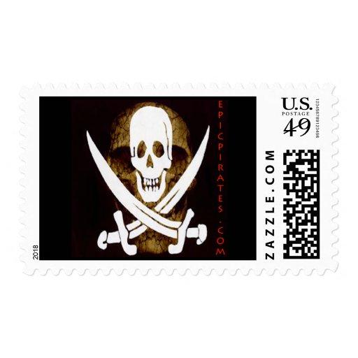 La epopeya piratea la bandera #5 timbre postal