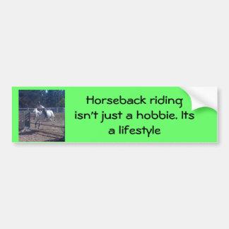 La equitación no está apenas… pegatina para auto