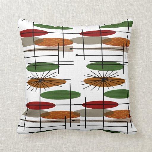 La era atómica Eames inspiró la almohada