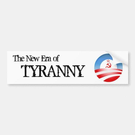 La era de tiranía pegatina para auto