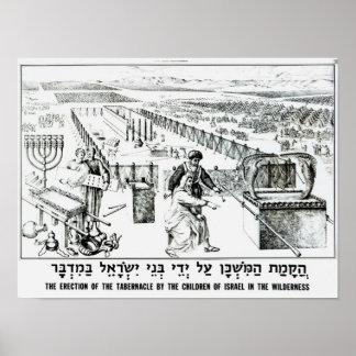 La erección del tabernáculo póster
