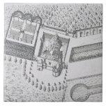 La ermita y el Maison Blanc en el castillo francés Teja Cerámica