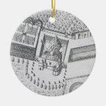 La ermita y el Maison Blanc en el castillo francés Adornos