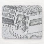 La ermita y el Maison Blanc en el castillo francés Alfombrillas De Raton
