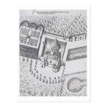 La ermita y el Maison Blanc en el castillo francés Tarjetas Postales