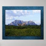 La Ermita y vista de la montaña, poster de Algorfa