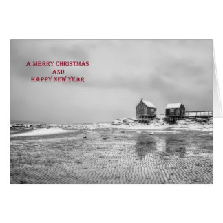 La erosión Shacks la tarjeta de Navidad