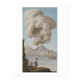 La erupción de Vesuvio, el lunes 9 de agosto de Postal