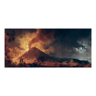 La erupción del monte Vesubio en 1771 Póster