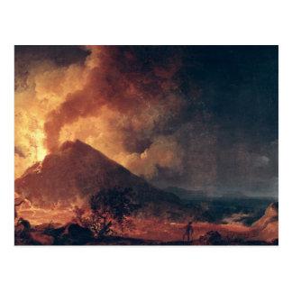 La erupción del monte Vesubio en 1771 Postal