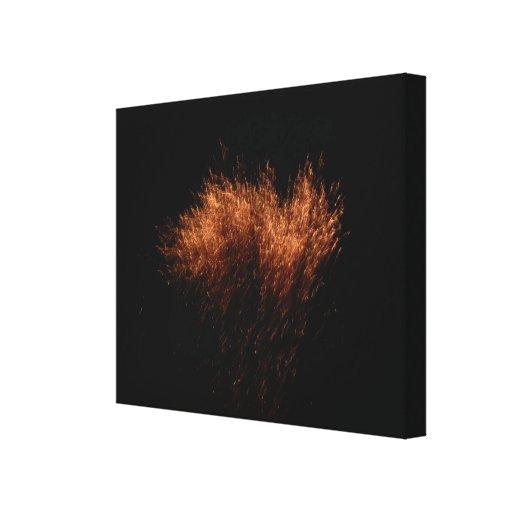 La erupción lienzo envuelto para galerías